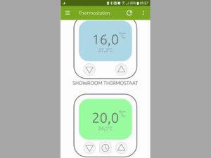 Via de app van BeNext is het mogelijk om meerdere thermostaten te programmeren - Vind de beste elektrische verwarming of infrarood panelen op Heaterdirect.nl